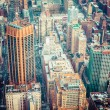 Aerial view of Manhattan skyline at sunset, New York City — Stock Photo #45145013