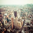 Aerial view of Manhattan skyline at sunset, New York City — Foto de Stock   #45145051