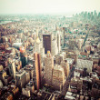 Aerial view of Manhattan skyline at sunset, New York City  — Stock Photo #45145051