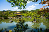 Famous Golden Pavilion Kinkaku-ji in Kyoto Japan  — Stock Photo