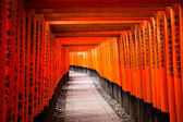 伏見稲荷大社京都府, 日本 — ストック写真