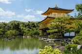 Famous Golden Pavilion Kinkaku-ji in Kyoto Japan  — Stock Photo