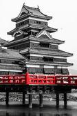 Beautiful medieval castle Matsumoto in the eastern Honshu, Japan  — Stock Photo