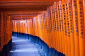 Fushimi Inari Taisha Shrine in Kyoto, Japan — Foto Stock