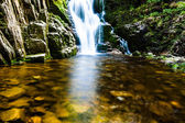Poland. The Karkonosze National Park (biosphere reserve) - Kamienczyk waterfall  — Stock Photo