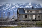 Beautiful scenic view of Longyearbyen (Svalbard island), Norway — Stock Photo