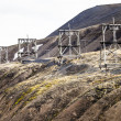 Aerial coal mining towers, Longyearbyen, Svalbard, Norway  — Stock Photo #49883483