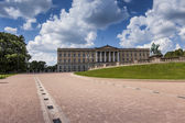 Panoramic view on the Royal Palace and gardens in Oslo, Norway — Stock Photo