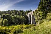 Old concrete railway bridge in Stanczyki, Mazury, Poland  — Stock Photo