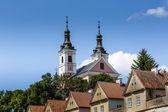 Církev a poustevny v camaldolese klášteře v wigry, polsko — Stock fotografie