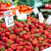 Strawberry at Poland Farmer market  — Stock Photo