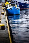 Old fishing boats in Jastarnia, Poland. — Стоковое фото