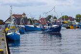 Old fishing boats in Jastarnia, Poland. — Stock Photo