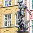 Poland - Gdansk city (also know nas Danzig) in Pomerania region. Famous Neptune fountain at Dlugi Targ square.  — Stock Photo #51347767