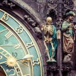 Detail of the Prague Astronomical Clock (Orloj) in the Old Town of Prague — Stock Photo #51657913