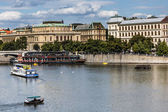 The View on summer Prague above River Vltava — Stock Photo