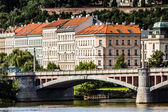 View on Prague Bridges at sunny day — Stock Photo