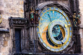 Detail of the Prague Astronomical Clock (Orloj) in the Old Town of Prague — Foto de Stock