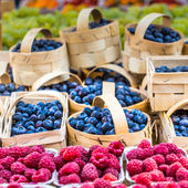 Berries at the farmers market — Стоковое фото