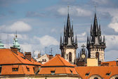 View of the Tyn Church in Prague  — Stock Photo