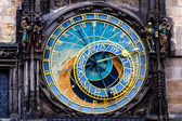 Detail of the Prague Astronomical Clock (Orloj) in the Old Town of Prague — Stock Photo