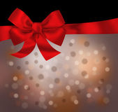 Holiday red black background with bow illustration — Stock Photo