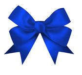 Realistic blue bow isolated on white background. Closeup llustra — Stock Photo