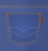Blue jeans kapsy. džínové styl pozadí. ilustrace — Stock fotografie
