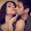 portrait de passion de sexy couple amoureux. Closeup — Photo