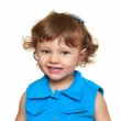 Happy smiling baby girl looking. Closeup isolated portrait — Stock Photo