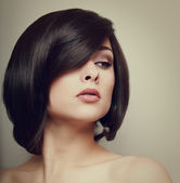 Vintage portrait of beautiful woman. Hair style. Makeup — Stock Photo