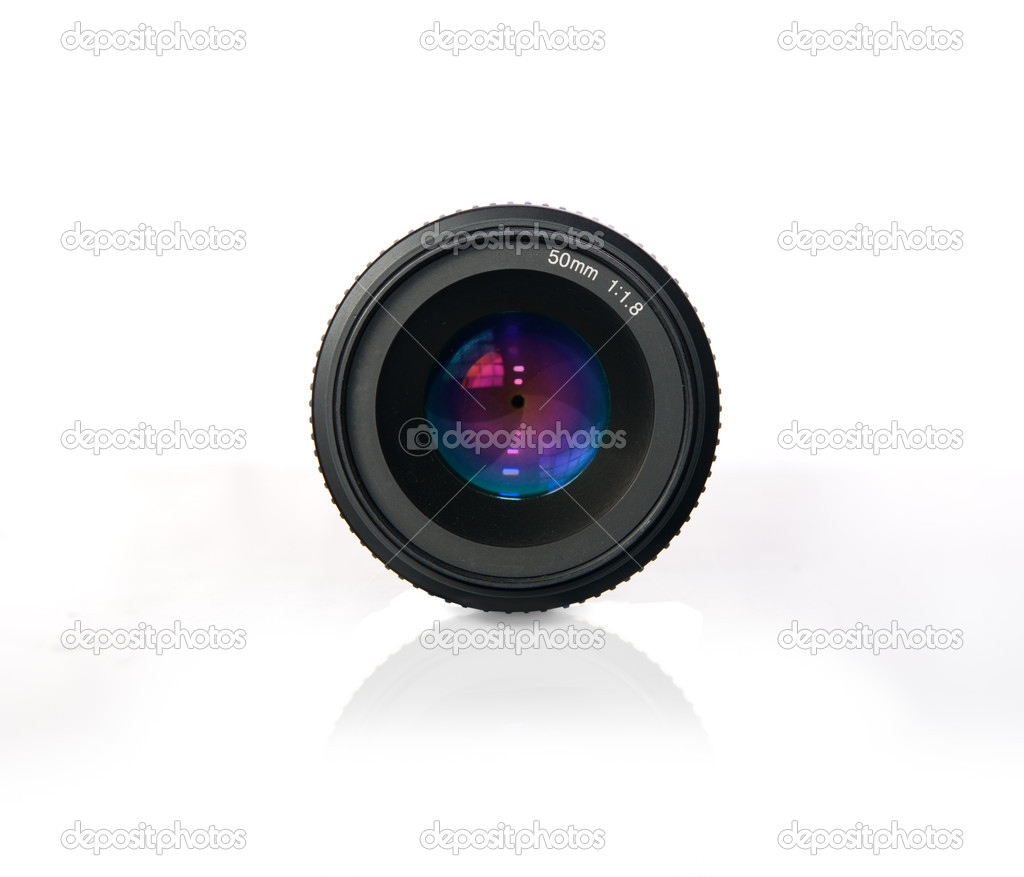 DSLR Photo camera lens optics. — Stock Photo #21260847