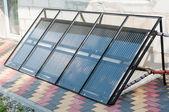 Hand made solar panels — Stock Photo