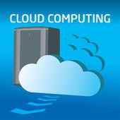 Serveur informatique cloud — Vecteur