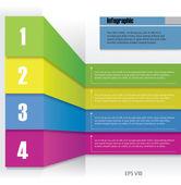 Info design panel — Stock Vector