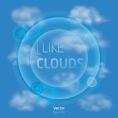 I like clouds — Vector de stock