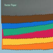 Cut paper — Stock Vector