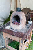 Ancient earthen glass furnace — Stock Photo