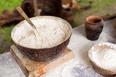 Vintage dough for baking — Stock Photo