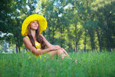 The girl in a hat — Stock Photo