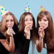 A Group of beautiful girls at the party — Stock Photo