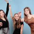 Group of beautiful girls at the party — Stock Photo #19362799