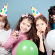 Group of girls birthday party. — Stock Photo