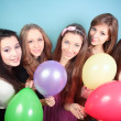 Group of beautiful girls at the party — Stock Photo
