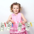 Royalty-Free Stock Photo: little girl with money