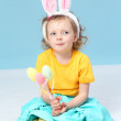 Royalty-Free Stock Photo: Girl with rabbit ears