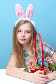 girl with rabbit ears — Stock Photo