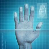 Fingerprint Security — Stock Photo