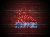 Sexy Stripper Neon Sign — Stock Photo