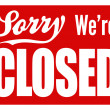 Closed Sign - XL — Stock Photo